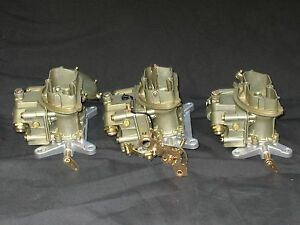 1969 427 4 Spd Corvette Tri Power Holley 4055 3659 Carburetors 992 Matched Set