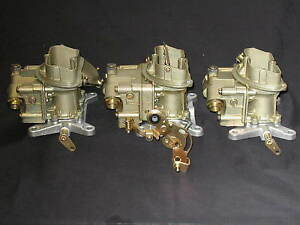 1967 427 4 Spd Corvette Tri Power Holley 3660 3659 681 Carburetors August 66