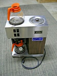 Restaurant Coffee Maker Commercial Automatic Bunn Brewer 2 Warmers 2 Pots