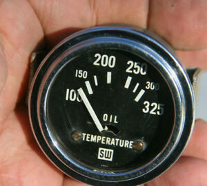 Stewart Warner 2 1 16 Vintage Electric 12v Oil Temperature Gauge