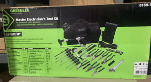 Greenlee 0159 11 28 Piece Master Electrician s Tool Kit New In Box