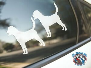 Rottweiler Sticker Dog Car Decal Laptop Dogs Pets Silhouette Rottweilers 2 Pack