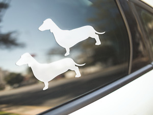 Dachshund Sticker Dog Car Decal Smooth Coat Dachshunds Dogs Silhouette Made Au