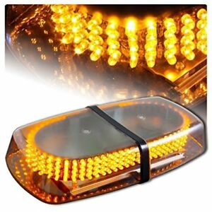 240 Led Warning Strobe Light Emergency Vehicle Truck Snow Plow Safety Top Amber