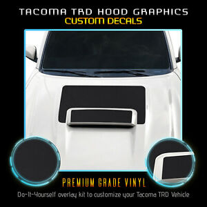 For 2016 2020 Toyota Tacoma Sport Pro Hood Scoop Decal Graphics Flat Matte