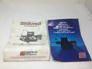Ammco 2002 Computerized Brake Lathe Operating Service Instructions W Parts Id