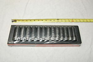 New Snap On 313tsmya 1 2 Drive 13 Piece 6 Pt Deep Metric Socket Set 12 To 24mm