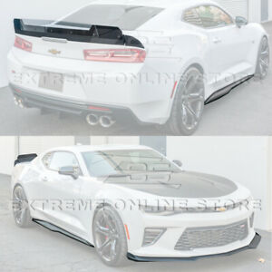 Refresh Zl1 Track Style Front Lip Side Skirts Rear Spoiler For 16 Up Camaro