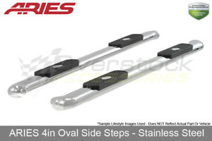 4in Ss Oval Nerf Bars For 99 2013 Silverado sierra 1500 99 14 2500 3500 Standard