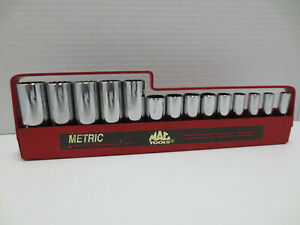 Mac Tools Usa 3 8 Drive 12pt 15pc Deep Metric Socket Set 6mm 19mm Xd2 Series