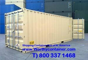 Double Door dd 20 New One Trip Shipping Container In Miami Fl