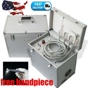 Dental Portable Delivery Unit Mobile Case Suction System Compressor Turbine 410w