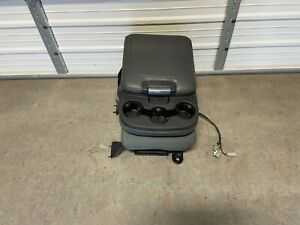 2013 2017 Dodge Ram 1500 2500 3500 Center Jump Seat Console Grey Cloth