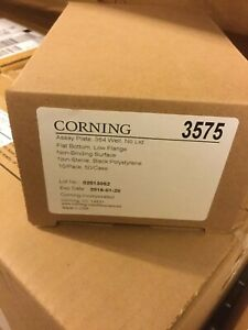 Corning 3575 Assay Plate 384 Well Low Flange No Lid Black 10 Pack New