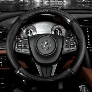 15 Car Steering Wheel Cover Genuine Leather For Acura