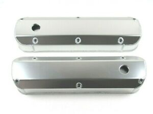 Ford 289 302 351 Fabricated Tall Alum Valve Covers Clear Anodize Bpe 2325ca