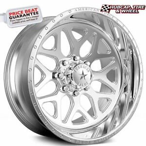 American Force Sprint Ck08 Concave Polished 22 x12 Truck Wheel 6 Lug set Of 4
