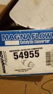 Magnaflow 54955 Universal High flow Catalytic Converter Round Spun 2 25 In out