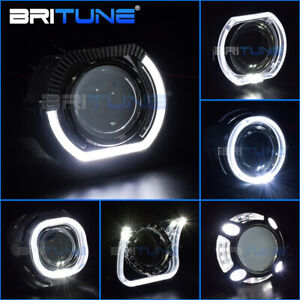 Led Angel Eyes Shrouds For Bi Xenon Projector Lens 3 0 Hella Q5 Covers Bezels