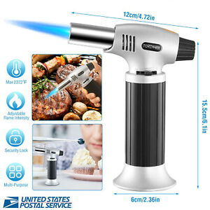 Adjustable Blow Lighter Kitchen Culinary Butane Torch Cooking Torch Refillable