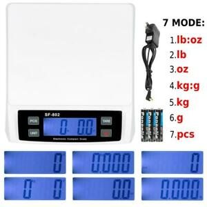 30kg 66lb X 0 1oz Digital Shipping Postal Scale Postage Kitchen Weigh Adapter