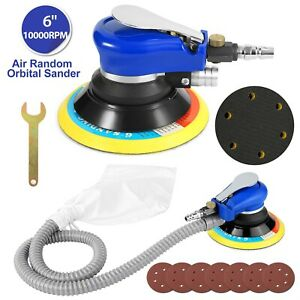 6 Air Body Random Orbital Palm Sander Da Buffing Sanding W 7 Discs 150mm Auto
