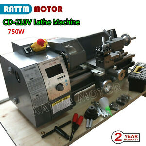Wm210v Metal Lathe Machine Thread Jade Metal Wood Turning 750w Brushless Motor