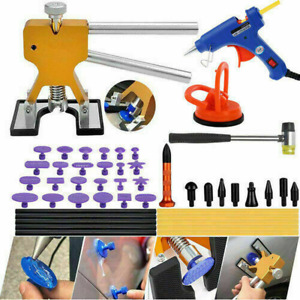 47pcs Paintless Dent Removal Puller Lifter Tools Hail Damage Repair Hammer Kit