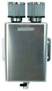 Moroso 85390 Oil Breather Tank With 2 Breathers 16 An Inlet Internal Baffling