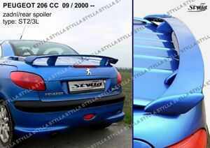 Spoiler Rear Trunk Boot Tailgate Peugeot 206 Cc Coupe Cabrio Wing Accessories