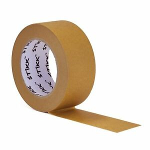 2 Inch X 60yd Stikk Brown Painters Tape 14 Day Easy Removal Trim Edge Finishing