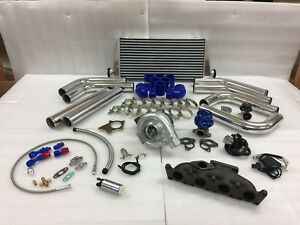 Fit 01 05volkwagon Audi A4 Golf Gti 1 8t T3t4 63 Turbo Kit Intercooler Bov Fmic