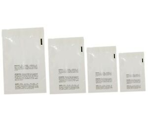 400 Clear Poly Bags Combo Pack With Suffocation Warning 6x9 8x10 9x12 10x13
