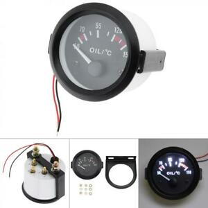 Car 2 52mm Digital Led Electronic Water Temp Temperature Gauge With Sensor