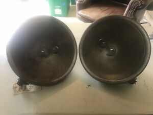 Pair Vintage 1928 1929 Ford Model A 9 Headlights Buckets Rat Rads