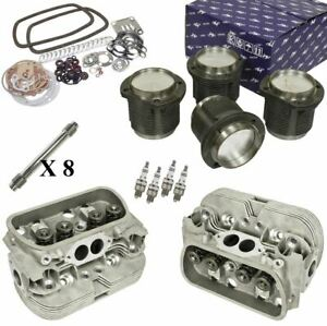 1641cc Air cooled Vw Engine Rebuild Kit Top End Heads And Pistons