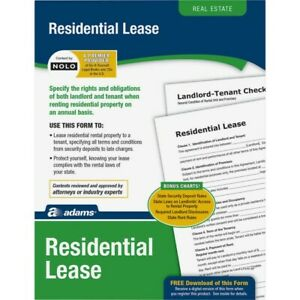 New Adams Residential Lease Real Estate Forms And Instructions Lf310