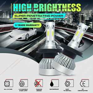 H4 9003 1700w 255000lm 3 side Cree Led Conversion Headlight Kit Hi lo Beam 6000k