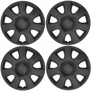 4 Pack 15 Matte Black Abs Hubcaps For Toyota Camry Replacement Wheel Covers