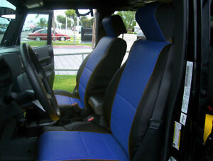 Jeep Wrangler Jk 2008 2012 4doors Black blue S leather Front rear Seat Covers