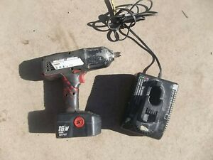 Snap On Cordless Impact Wrench 1 2 Inch 13mm battery Charger Used