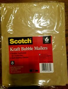Scotch Bubble Mailer 6 X 9 inches Size 0 6 pack