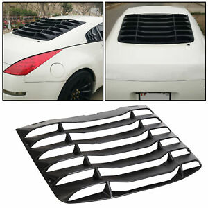 For 03 08 Nissan 350z Ikon Style Matte Black Rear Windshield Louvers Cover Abs