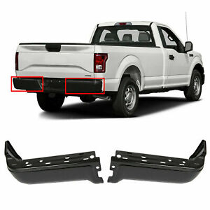 Steel Rear Step Bumper Face Bar Ends Left Right Set For 2009 2014 Ford F150