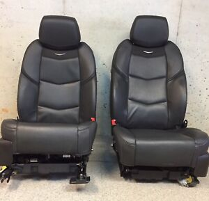 2015 2018 Cadillac Escalade Front Bucket Seats Full Power In Black Leather