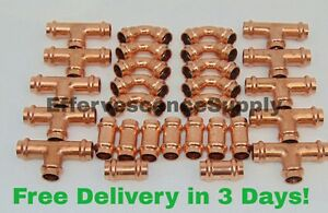lot Of 30 1 Propress Copper Fittings tees Elbows Coupling Press Fittings
