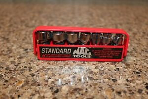 Mac Tools 7 Pc 1 4 Drive Sae Universal Socket Set 12 Pt Smu72tra