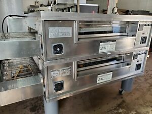2010 Middleby Marshall Ps570s Double Stack Natural Gas Conveyor Pizza Ovens