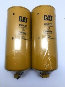 2 Pack Of Cat Filter 256 8753 Fuel water Separator Free Expedited Shipping