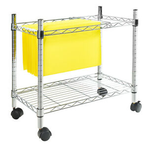 Costway Metal Rolling File Cart For Letter Size Legal Size Folder Storage